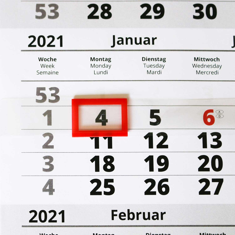 3-Monatskalender PRO - Datumsanzeiger