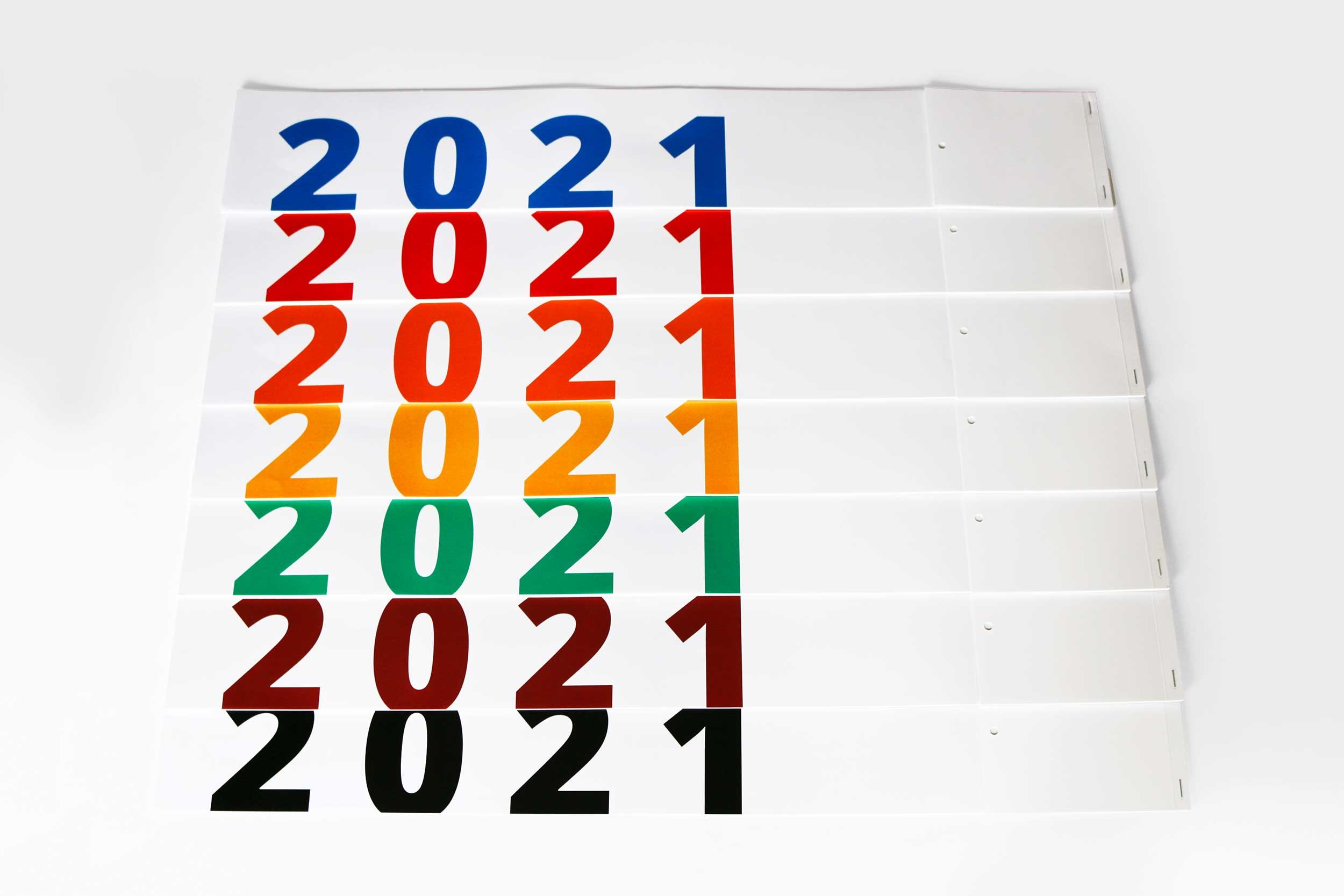 Kalendershop - Streifenkalender L680 - Farben